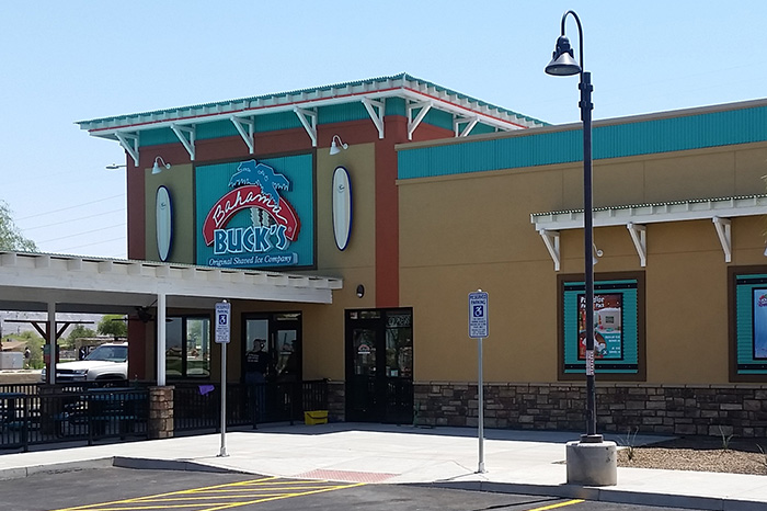 Building construction for Phoenix Bahama Bucks retail location